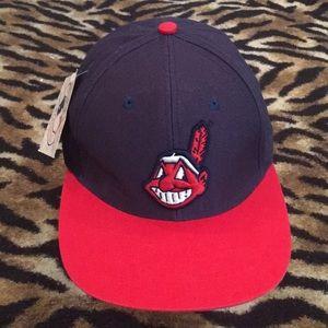 Vintage NWT Cleveland Indians SnapBack Hat OSFM